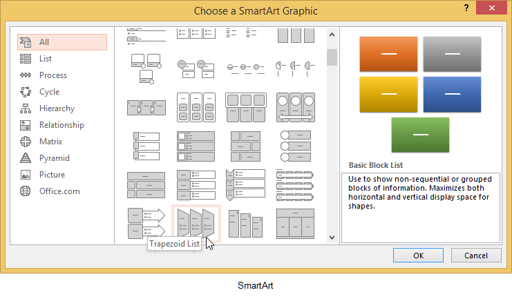 how to use smart art 2013 powerpoint and smartart hello, i hope someone can help me please i completely understand how to convert to smartart in powerpoint  but convert to smart art .