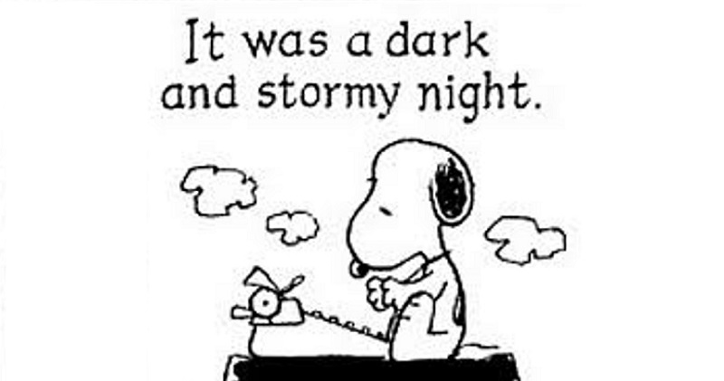 it was a dark and stormy essay It was a dark and stormy night a guy was driving in some mountains and his car broke down he stopped it by a tree and walked down the highway looking for help.
