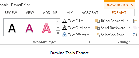 how to change text raping on power point