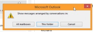 Decide if Conversations View should be applied to the current folder only or to all mailboxes.