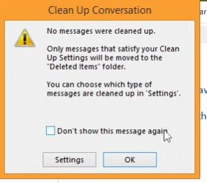 Clean up Settings