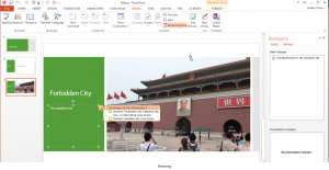 tracking changes in powerpoint 2013