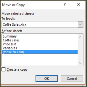 Moving or Copying Worksheet to Different Workbook