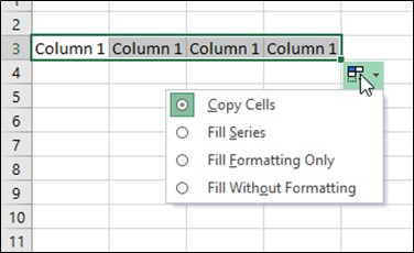 How to use AutoFill in Excel 2010, 2013 – all fill handle options