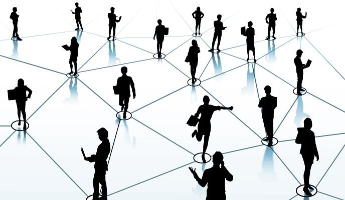 Networking on LinkedIn.