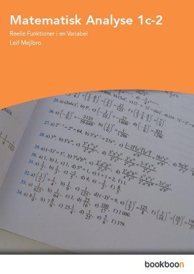 Matematisk Analyse 1c-2