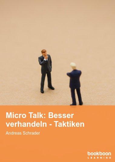 Micro Talk: Besser verhandeln - Taktiken