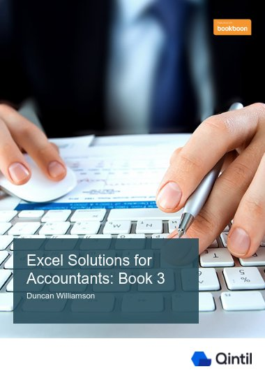Excel Solutions for Accountants: Book 3