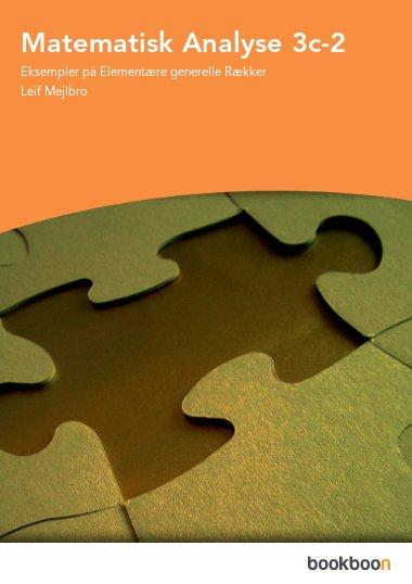 Matematisk Analyse 3c-2