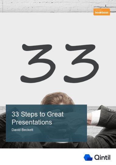 33 Steps to Great Presentations