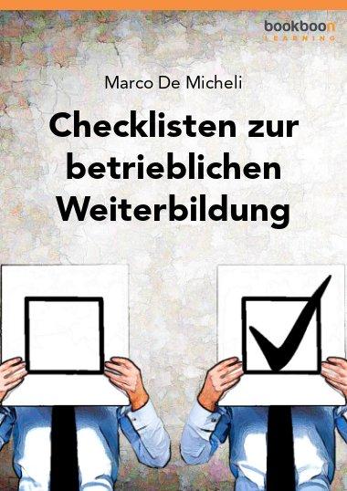 Checklisten zur betrieblichen Weiterbildung