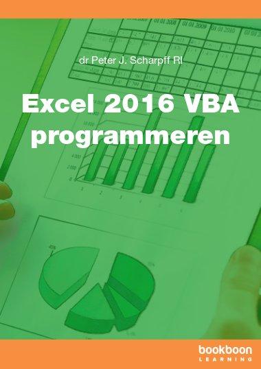 Excel 2016 VBA programmeren