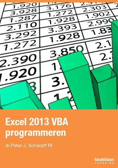 Excel 2013 VBA programmeren