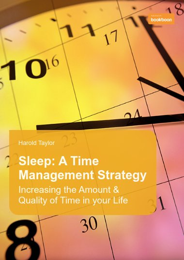 Sleep: a time management strategy