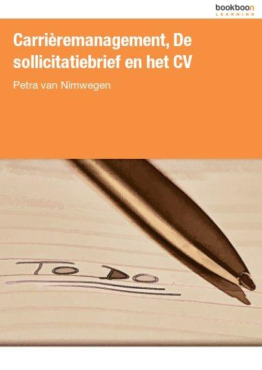Carrièremanagement, De sollicitatiebrief en het CV