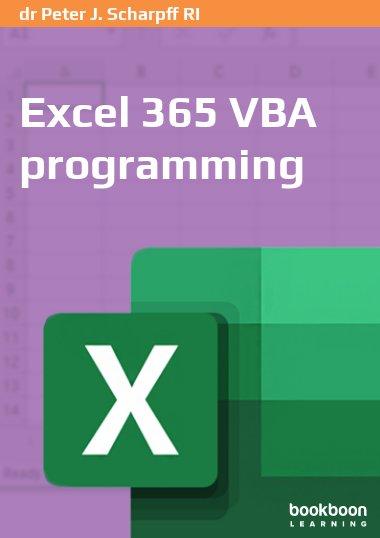 Excel 365 VBA programming