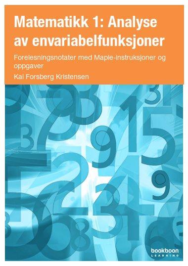 Matematikk 1: Analyse av envariabelfunksjoner