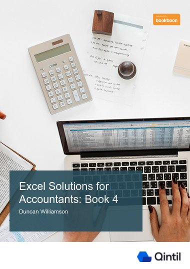 Excel Solutions for Accountants: Book 4