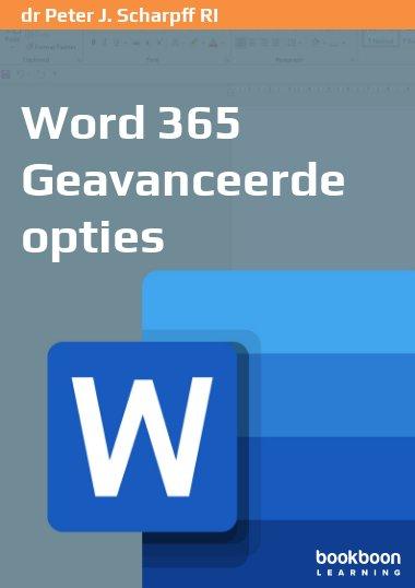 Word 365 Geavanceerde opties