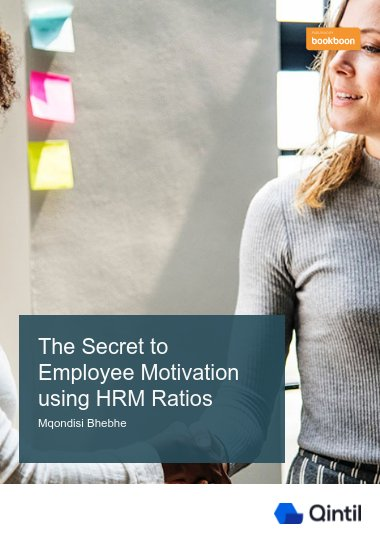 The Secret to Employee Motivation using HRM Ratios