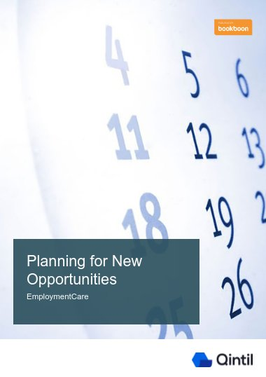 Planning for new opportunities