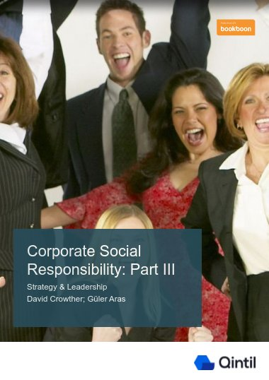 Corporate Social Responsibility: Part III
