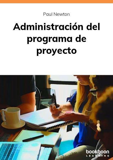 Administración del programa de proyecto
