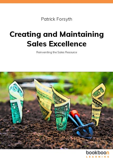 Creating and Maintaining Sales Excellence