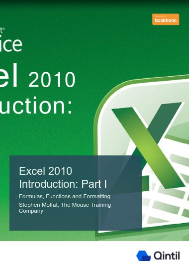 Excel 2010 Introduction: Part I