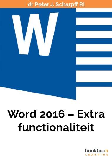Word 2016 – Extra functionaliteit