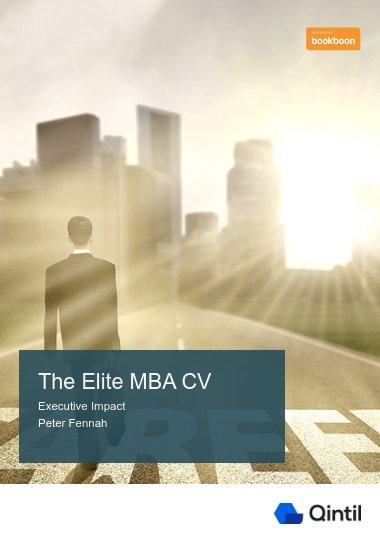 The Elite MBA CV