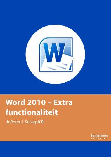 Word 2010 – Extra functionaliteit