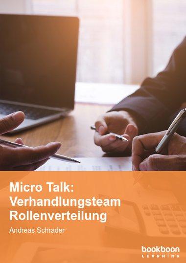 Micro Talk: Verhandlungsteam Rollenverteilung
