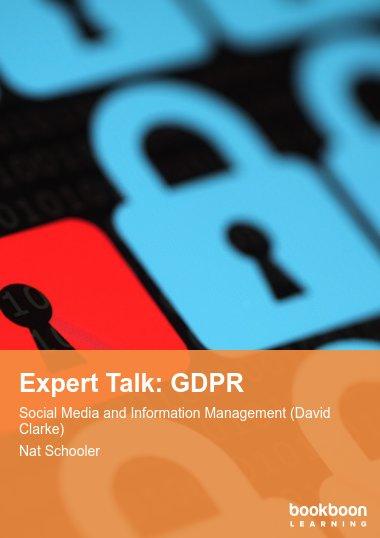 Expert Talk: GDPR