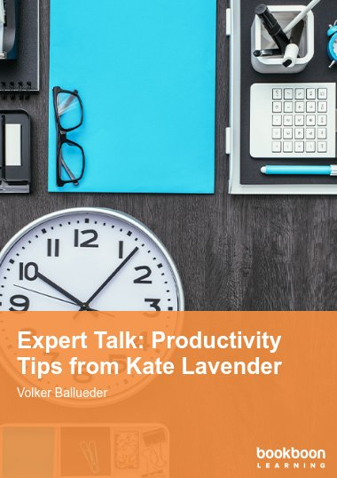 Expert Talk: Productivity Tips from Kate Lavender