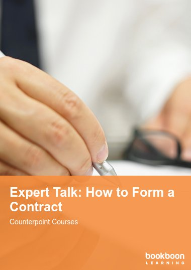 Expert Talk: How to Form a Contract