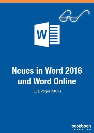 Neues in Word 2016 und Word Online