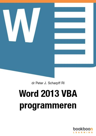 Word 2013 VBA programmeren