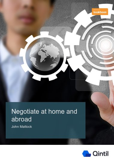 Negotiate at home and abroad
