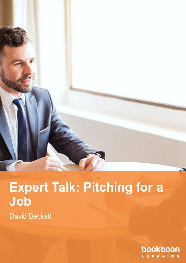 Expert Talk: Pitching for a Job