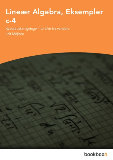 Lineær Algebra, Eksempler c-4