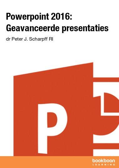 Powerpoint 2016: Geavanceerde presentaties