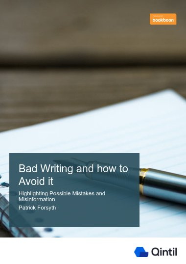 Bad writing and how to avoid it