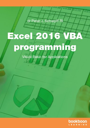 Excel 2016 VBA programming