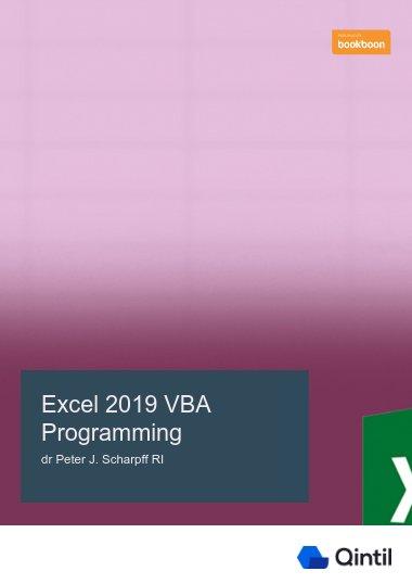 Excel 2019 VBA Programming