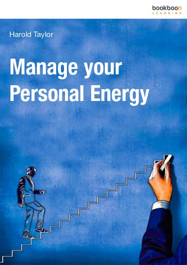 Manage your personal energy
