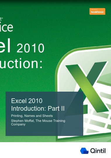 Excel 2010 Introduction: Part II