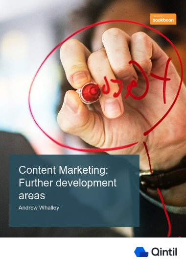 Content Marketing: Further development areas