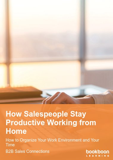 How Salespeople Stay Productive Working from Home