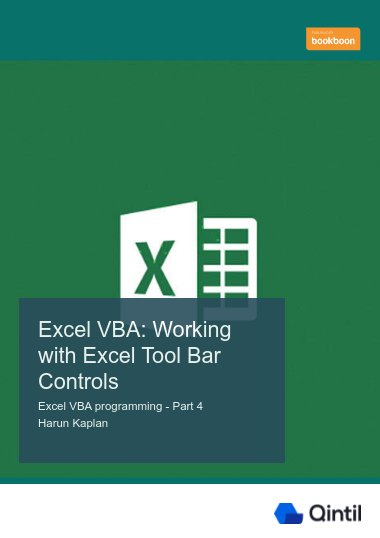 Excel VBA: Working with Excel Tool Bar Controls